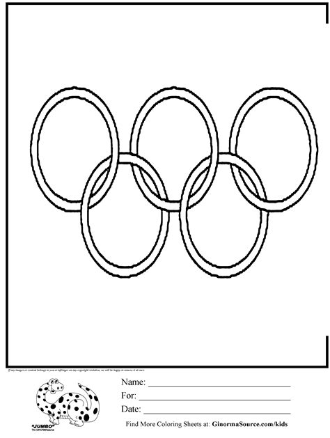Olympic Rings Logo Coloring Page Kids Activities Pinterest Olympic Rings Coloring Page