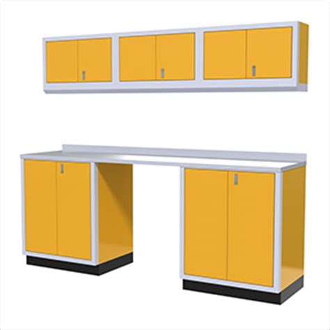 Yellow Garage Cabinets High End Yellow Garage Cabinets
