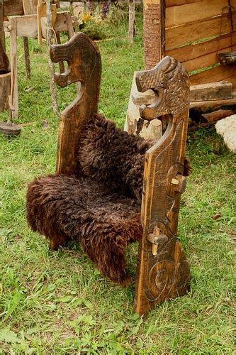 wooden viking chair   festival  experimental