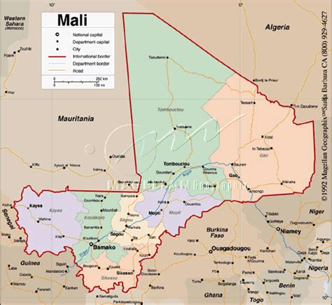 map of mali mali karte provinzen