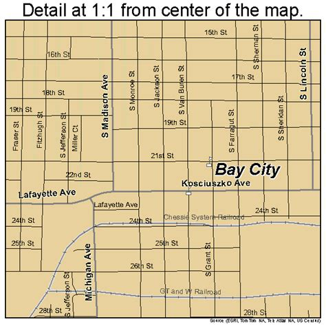 bay city michigan map 2606020