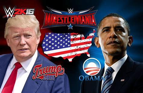 donald trump vs obama donald trump vs barack obama wwe 2k16 creations