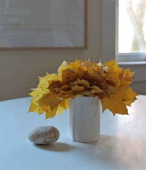 decorar hojas secas decorar con hojas secas
