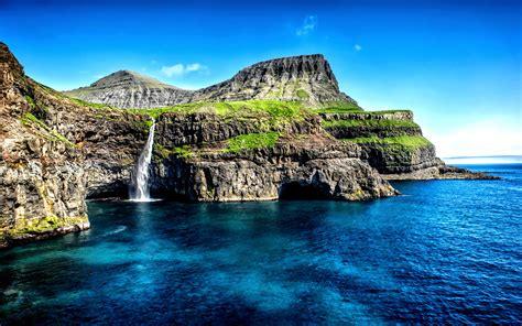 gasadalur vagar faroe islands wallpapers shutter stock img