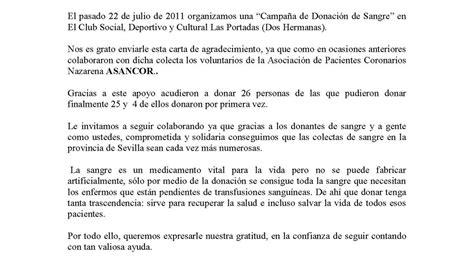 carta de agradecimiento por donacion asociaci 211 n de pacientes coronarios nazarena carta de