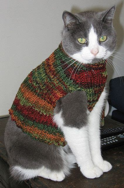 pattern knit cat sweater cat vest knitting patterns free pinterest