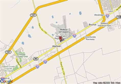 where is midland texas on the map map of best western airport plaza inn midland
