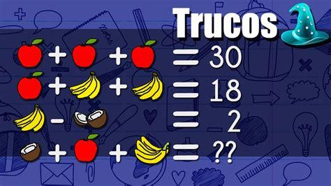 imagenes de trivias matematicas la trivia de las frutas soluci 243 n youtube