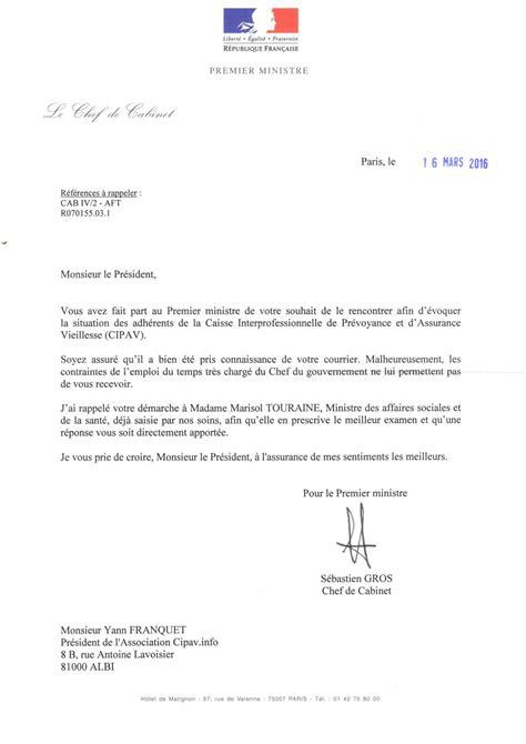 Ecole De Ministres 3 Lettres le 1er ministre demande une fois 224 la cipav de recevoir
