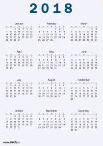 Calendar 2018 Free 2018 Calendar Printable Free Free Dzgn