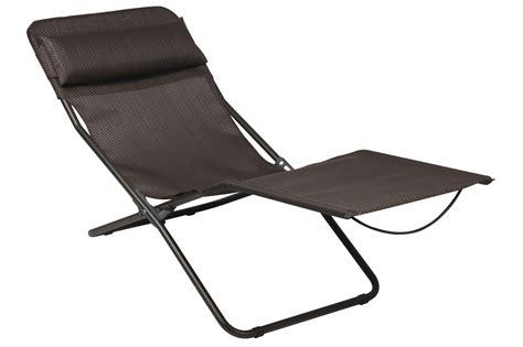 Sun Chairs Loungers Design Ideas Transalounge Xl Plus Sun Lounger Foldable Moka By Lafuma