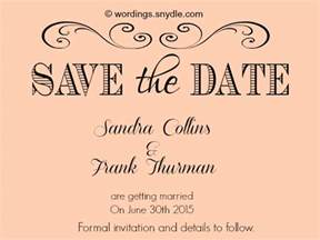 Save The Date Wording Save The Date Wording Samples Wordings And Messages