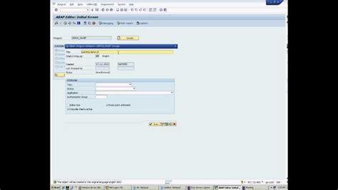 sap tutorial module pool sap abap module pool screen programming youtube