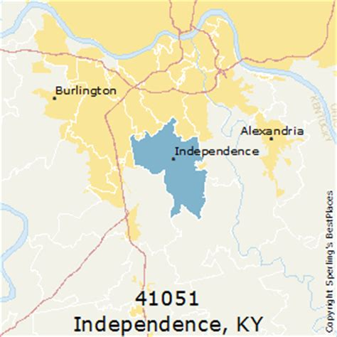 independence kentucky map best places to live in independence zip 41051 kentucky