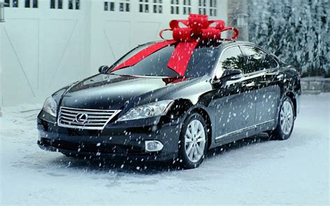 lexus christmas lexus es 350 red bow photo 1
