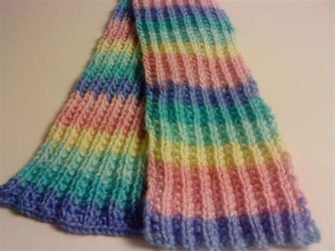 knitting pattern for rainbow scarf you have to see knit ribbed rainbow scarf on craftsy