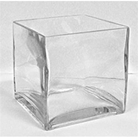 Clearance Home Decor Glass Cube Vase 6 X 6
