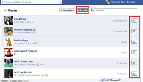 fb pesan cara menghapus semua pesan inbox di facebook ๖ c mp3 241 k