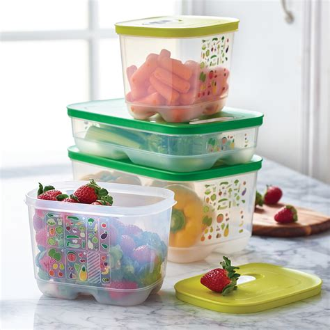 Tupperware Blush fridgesmart 174 4 pc set maximize the freshness of your