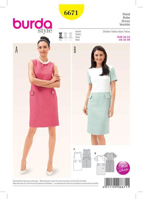 pattern sewing burda burda 6671 misses dress