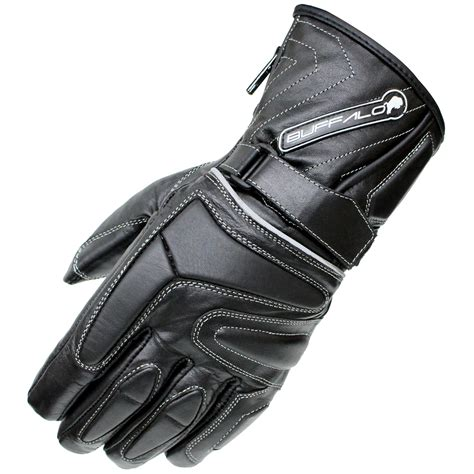 winter motocross gloves buffalo arctic waterproof wp thermal leather motorcycle