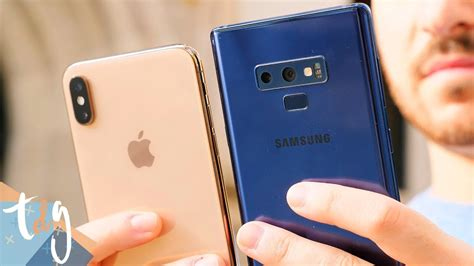 duelo de titanes iphone xs max  samsung galaxy note  youtube