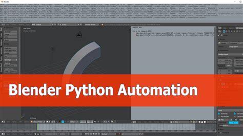 Tutorial Python Blender | blender python tutorial automation of operations