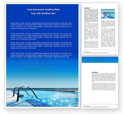 swimming pool word template 03599 poweredtemplate com