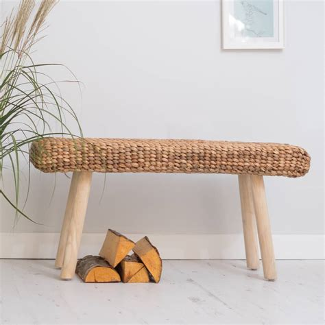wooden hallway bench wooden hallway bench with wicker by za za homes