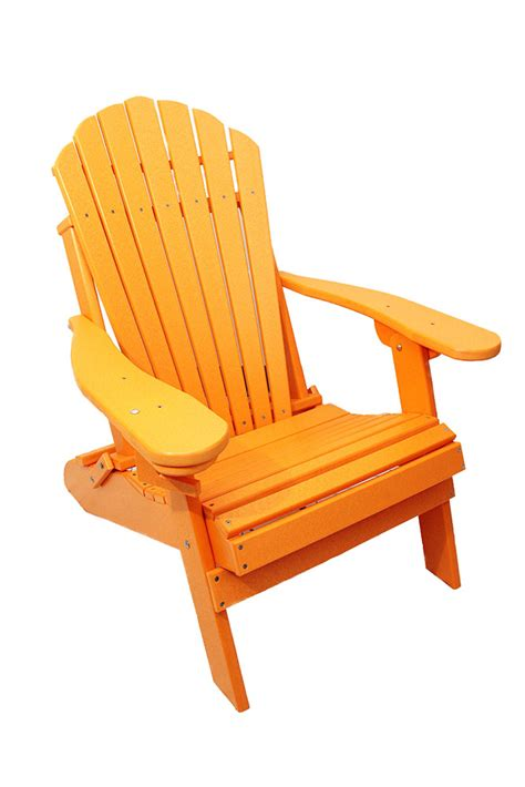 Poly Lumber Adirondack Chairs outer banks deluxe oversized poly lumber folding adirondack chair with cup holder bar