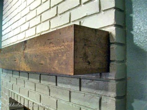 Make Your Own Fireplace Mantel Shelf by Mantel Or Wood Shelf Made To Look Like Solid Wood