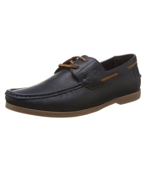 ucb benetton boat black casual shoes available at snapdeal
