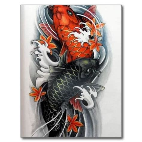 tattoo art koi fish coy fish art japanese red black koi fish tattoo art