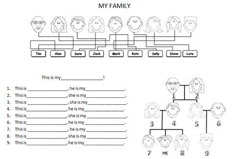 family tree exercise printable family tree template family tree exercise printable