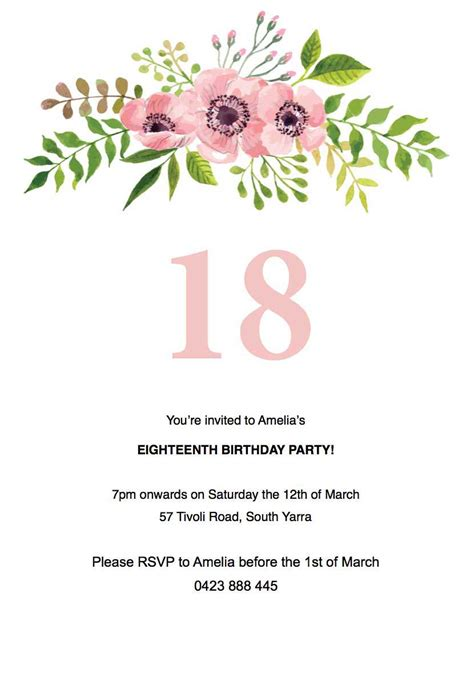incredible birthday party invitation template word to create your