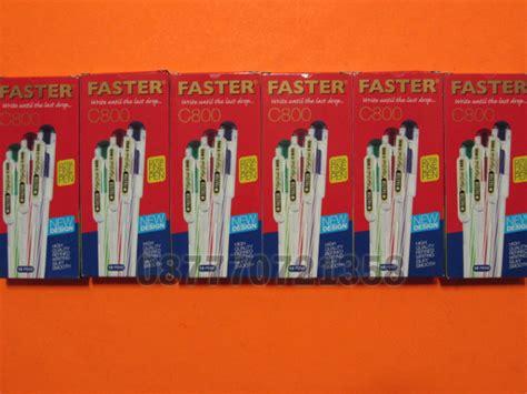 Pen Faster C600 1 Lusin 12pcs aneka pulpen pensil penghapus dan rautan mini kaskus