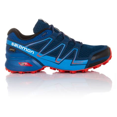 waterproof sport shoes salomon speedcross vario mens blue tex waterproof