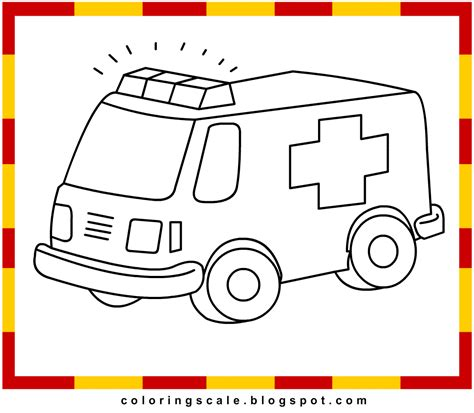 coloring pages printable for kids ambulance coloring