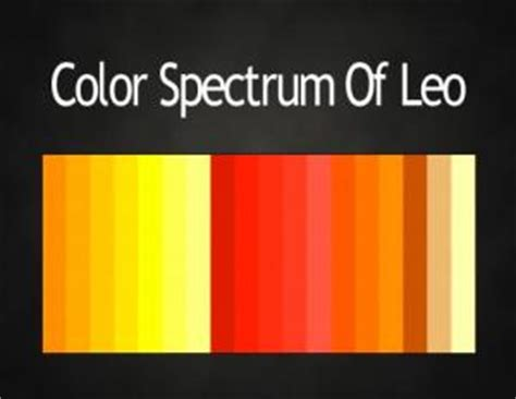 leo color colors of the zodiac astrology color palettes abstar ology