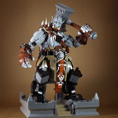 World Of Lego 9 tiles or studs orgrim doomhammer from wow