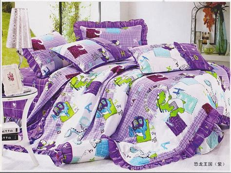 barney bed set barney the dinosaur bed sheets pillowcase