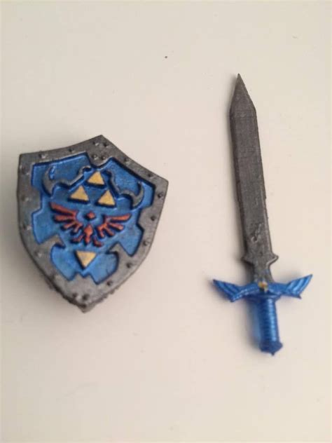 custom lego minifig legend of master sword and hyrule shield 3d printed lego weapons
