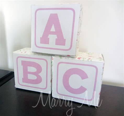 Abc Blocks Baby Shower by Abc Blocks For Baby Shower