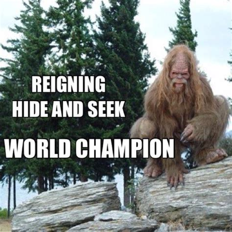 Hide And Seek Meme - reigning hide and seek world chion sasquatch
