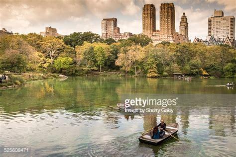 boating on central park boating on central park lake new york city stock photo