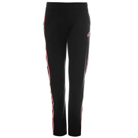 lonsdale womens 2 stripe tracksuit bottoms