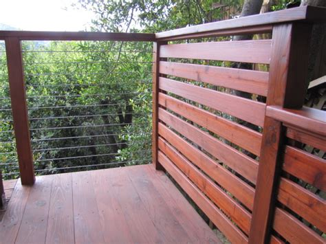 Patio Rails by Cable Rail Wood Post And Rail Patio
