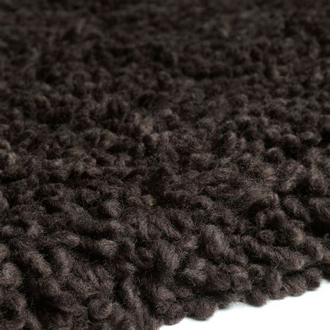 shaggy wool rugs arctic shaggy wool rugs chocolate 18 free uk delivery the rug seller