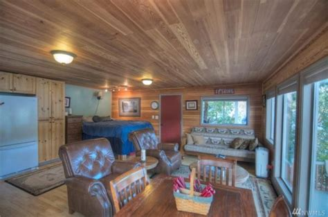 waterfront cabin  summit lake  boathouse  sale