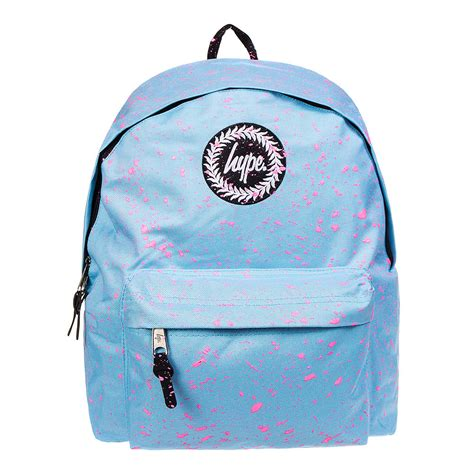 Hype Speckle Backpack hype speckle sky blue pink backpack school sports rucksack